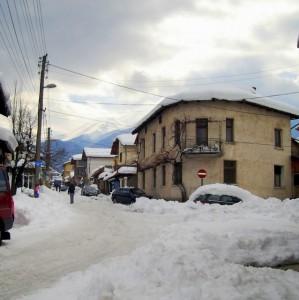 Bansko Pirin Street In Snow