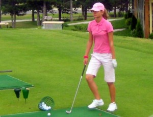Ana Maria Vulkanova On The Pirin Golf Driving Range