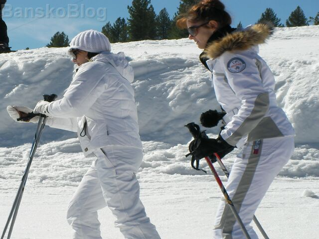 Ski Fashion On The Bansko Piste