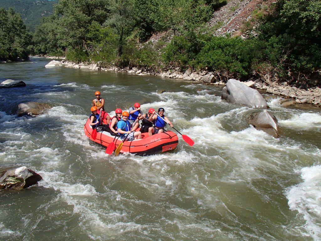 White water rafting, Bulgaria