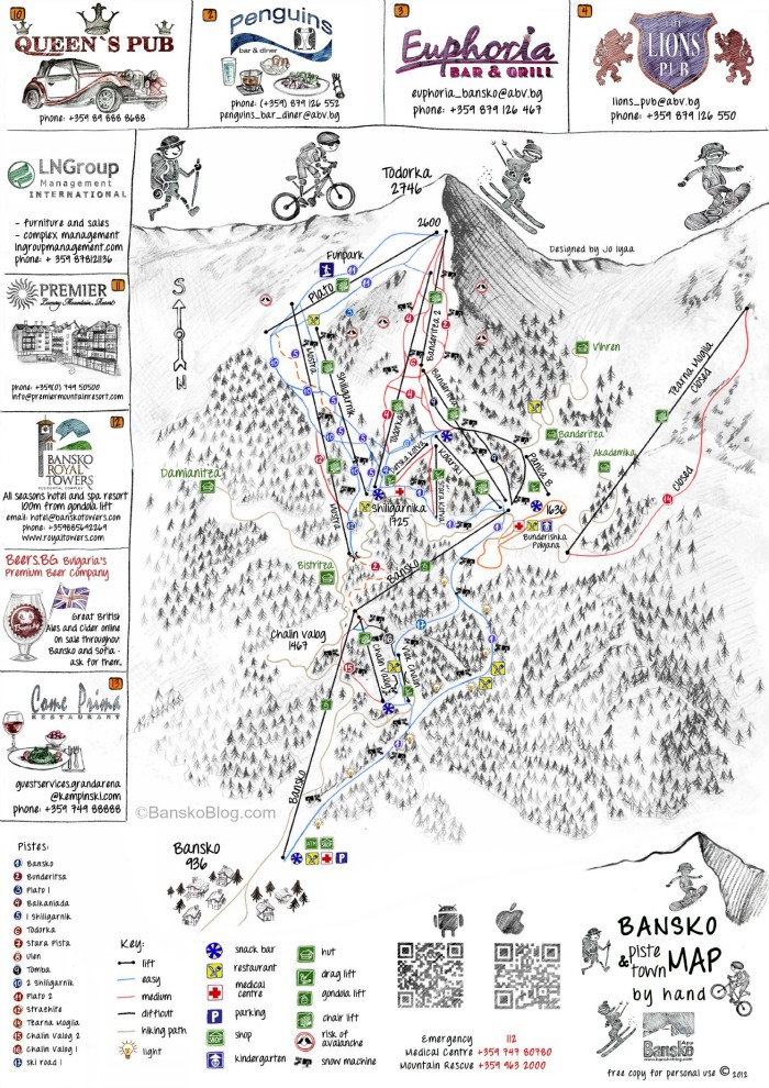 piste and trail map