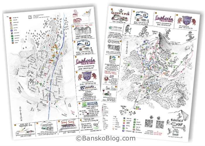 map of bansko