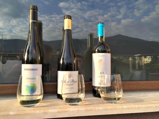 Bratanov, Nove Pazar and Rossidi white Bulgarian wines
