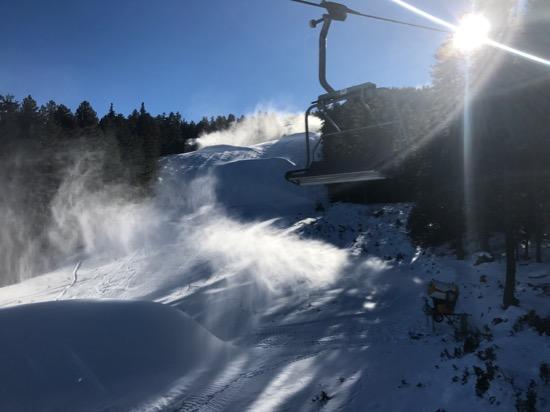 snow making bansko