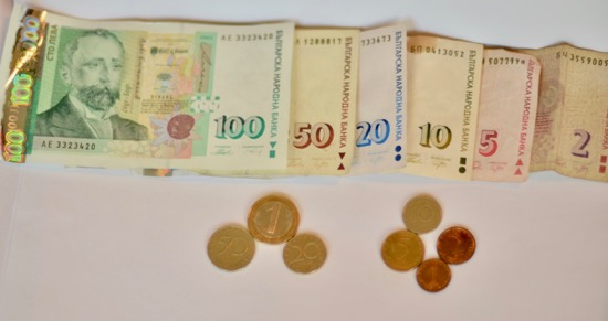 Bulgarian notes and coins